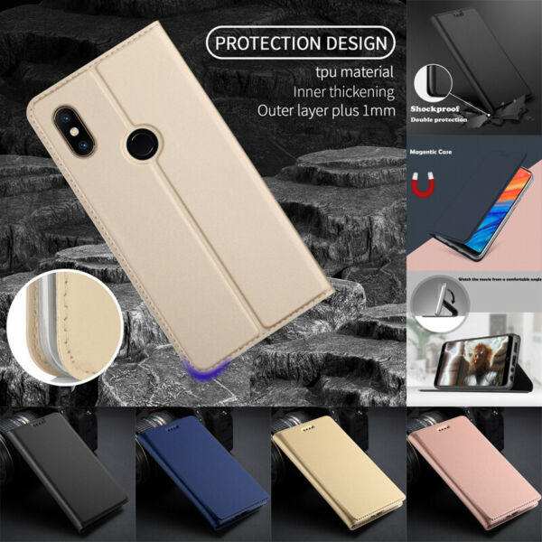 For Xiaomi Redmi Note 7 6 5 Pro 4X Magnetic Flip Leather Wallet Card Cover Case