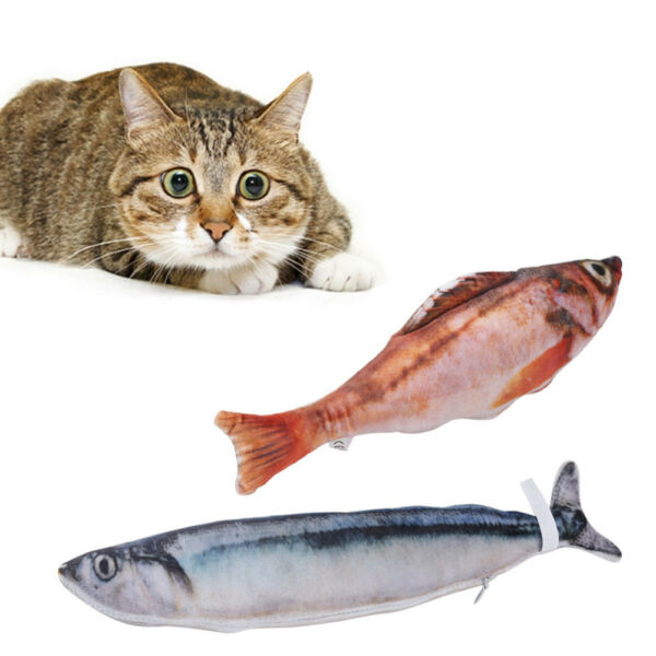 LC_ Eg _ Chat Farci Jouet Catmint Cataire Simulation Saury Poisson Gratter Bord