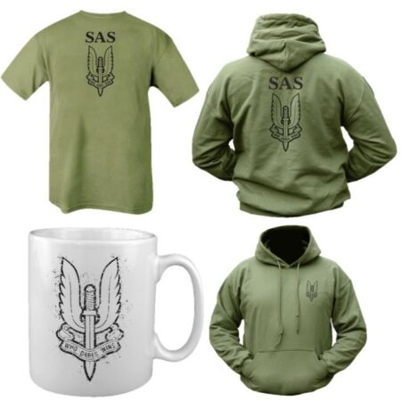 img-SAS GIFT SET HOODIE T-SHIRT MUG CUP MENS S-2XL BRITISH ARMY SPECIAL FORCES