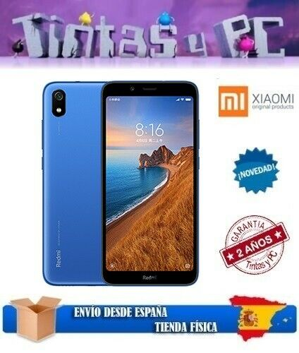 XIAOMI REDMI 7A 16GB AZUL. 2GB RAM. SNAPDRAGON 439. ¡VERSION GLOBAL EN ESPAÑOL!