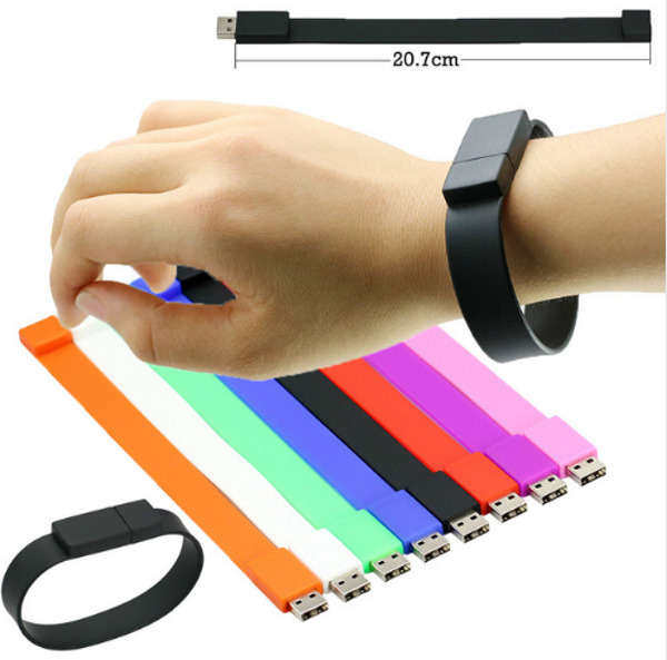 USB Stick Armband in 7 Top Farben, Wristband  weiches Silikon USB Flash Drive