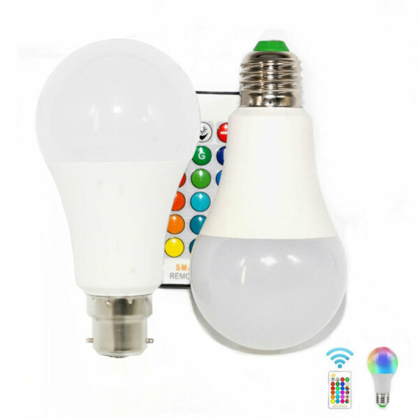 Dimmable E27 LED Bulb RGB Lamp 5W 10W 15W RGBW Light + IR Remote Control RK1025