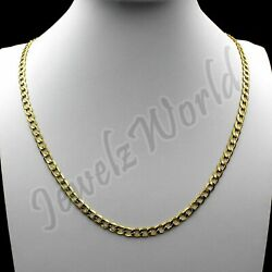 Kyпить 10K Solid Yellow Gold Cuban Curb Link Chain Necklace 2.5MM 16