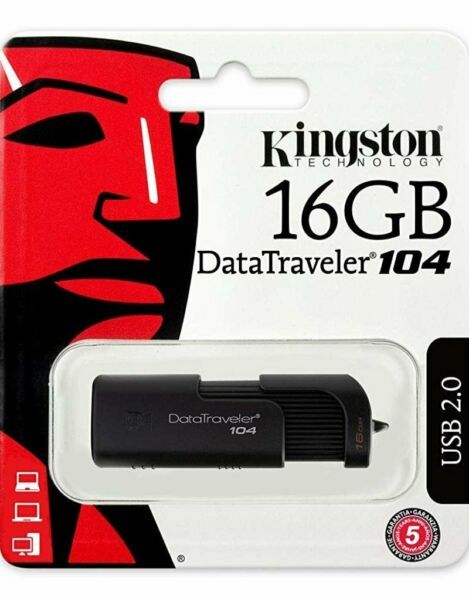 KINGSTON PENDRIVE DATATRAVELER 16GB USB 2.0 DT104/16GB
