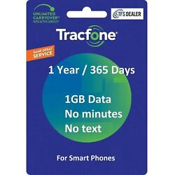 Kyпить TracFone Service Extension 1 Year 365 Days + 1GB Data For SmartPhones на еВаy.соm