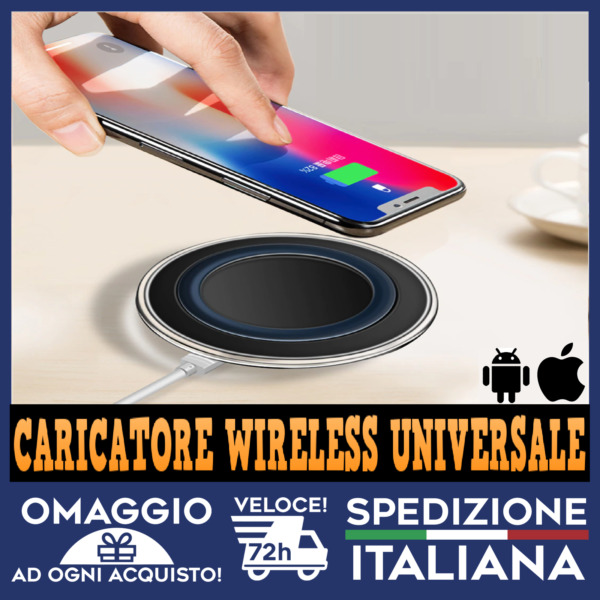 CARICATORE WIRELESS UNIVERSALE WIFI PER ANDROID E IPHONE DA TAVOLO con cavo 🇮🇹