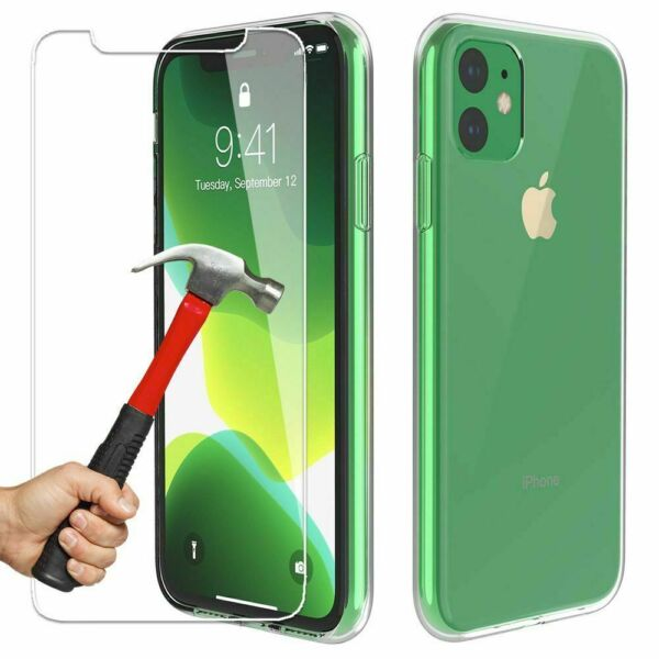 Coque iPhone 11 PRO/11Pro MAX/X/XS/MAX 2019+ Film Protection Verre trempé écran