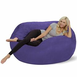 Kyпить Oversized Memory Foam Bean Bag Chair w/ Soft Micro Suede Cover - Purple 5Ft на еВаy.соm