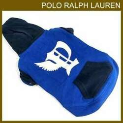 RALPH LAUREN  Blue Winged P Dog Clothe Hoodie Size S New