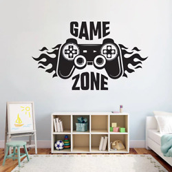 Kids Bedroom Wall Decal Sticker Home Decoration Game Zone Gamer Art Decal Mural