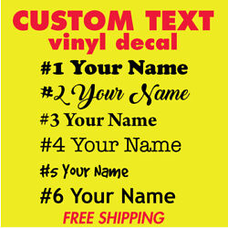 Custom NAME Personalized VINYL DECAL Lettering Window yeti cup laptop Sticker