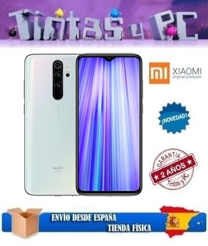 XIAOMI REDMI NOTE 8 PRO 128GB BLANCO. 6GB RAM. MTK HELIO G90T. VERSION GLOBAL.