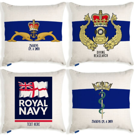 img-Royal Navy Cushion Cover British Military Birthday Gift Personalised Official