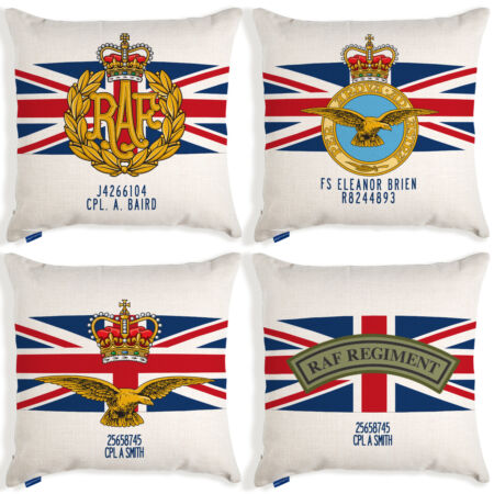 img-RAF Cushion Cover Royal Air Force British Military Personalised Fathers Day Gift