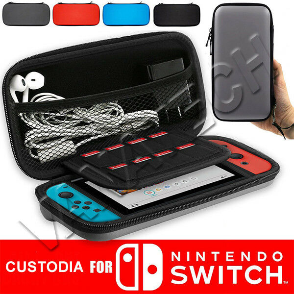 BORSA CUSTODIA PROTETTIVA COMPATIBILE PER NINTENDO SWITCH LITE PORTA ACCESSORI