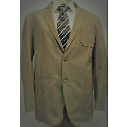NWT Top Drawer, Olive-Taupe, Fine Tailored Cotton Sport Coat, Size XL #208