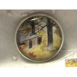 Charley Harper Mid Century Mod Atomic Ranch House Sewing Button 1'' Charles Ak127