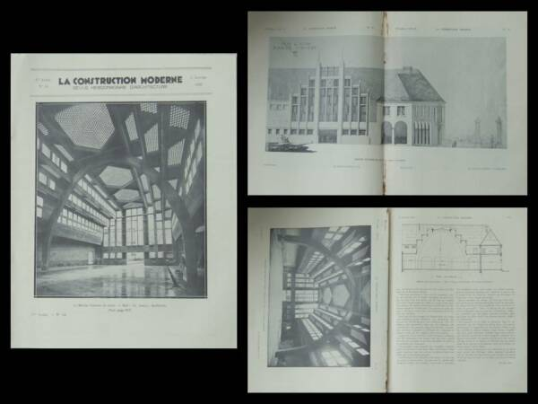 CONSTRUCTION MODERNE n°14 1932 LAON, MARCHE COUVERT, CHARLES ABELLA