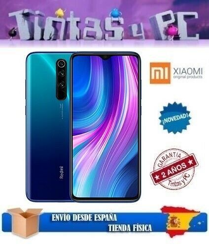 XIAOMI REDMI NOTE 8 PRO 128GB AZUL. 6GB RAM. MTK HELIO G90T. ¡¡VERSION GLOBAL!!