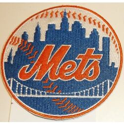 New York NY Mets Embroidered PATCH~3 1/2'' Round~Iron Sew On~MLB~Ships FREE in US