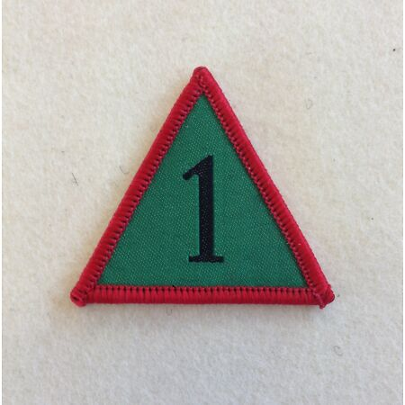img-1 Mechanised Brigade TRF, Green, Red, Black, Badge, Mech Bde, Army, Military