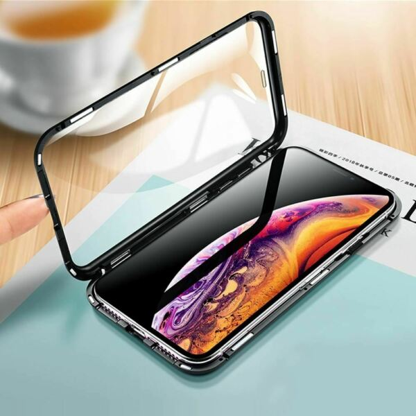 Royaume-Uni[NT] Eqvvol Metal Magnetic  Case For iPhone XS MAX X XR 8 7 Plus 6 6s
