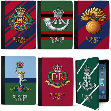 img-Personalised Military iPad Case Air, Air 2 Gen Cap Badge Gift Official TR