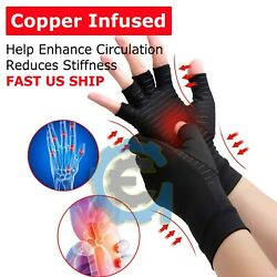 Kyпить 2pcs Copper Arthritis Compression Gloves Hand Support Joint Pain Relief USA на еВаy.соm