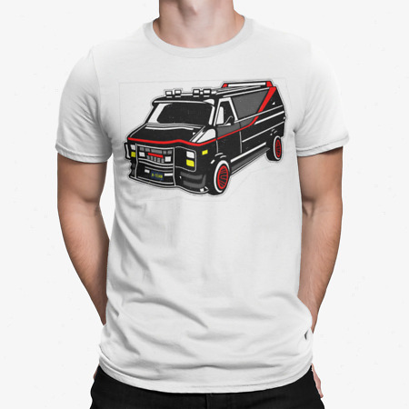 img-A Team T-Shirt Retro Van Movie Film Tee 80s 90s TV Army Action Gift GMC Truck