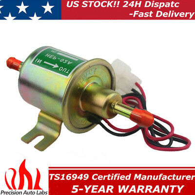 12V Universal Electric Fuel Pump 2.5-4 PSI Gas Diesel Inline Low Pressure HEP02A