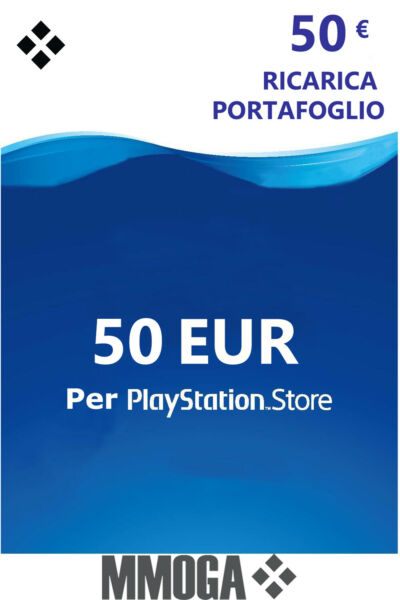 50€ Eur PlayStation codice prepagato - 50 EURO PSN Network PS4 PS3 PS Vita - IT