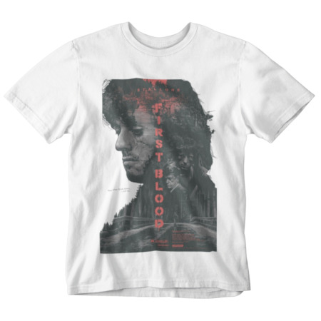 img-first blood T-shirt Rambo Sly Movie poster retro 80s 90s yolo tumblr action hero