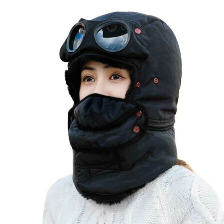 img-Winter Trapper Hat Cycling Windproof Cap Earmuffs Neck Warmer Face Mask Outdoor