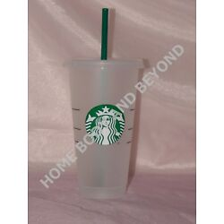 Kyпить STARBUCKS Reusable Venti 24 OZ Frosted Ice Cold Drink Cup With Lid & Straw на еВаy.соm