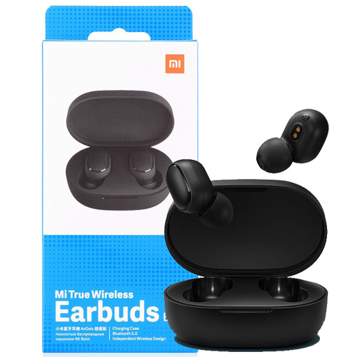 XIAOMI AURICOLARI WIRELESS MI TRUE EARBUDS BASIC NERO CON CHARGING CASE AIRDOTS