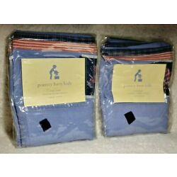 Pottery Barn Kids STAR LINER 2 Medium 4481453 Pair Blue Red NEW Two Liners