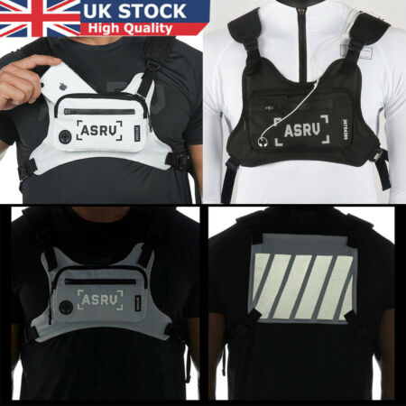img-Vest Canvas Chest Rig Bag Hip Hop Functional Tactical Harness Chest Waist Pack