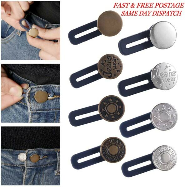 Jeans Retractable Button Adjustable Detachable Extended Button (3PCS) UK 2020