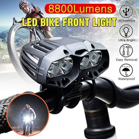 img-T6 4LED Bicycle Front Light 4.2V Outdoor Night Riding Mountain Bike Headlights