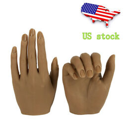 Kyпить Silicone Practice Hands For Nails Lifesize Mannequin Female Model Display Insert на еВаy.соm