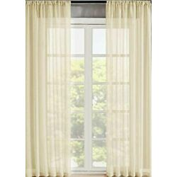 Home 2 Panels Window Sheer Curtains Voile Rod Pocket Solid Multi Color & 4 Sizes