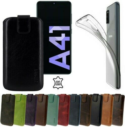 AllemagneExclusive Real  Case Cell Phone Case+Silicone Case for Samsung Galaxy A41