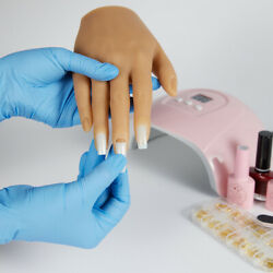 Kyпить Silicone Nail Practice Hands 1:1 Mannequin Female Model Display Insert just one на еВаy.соm