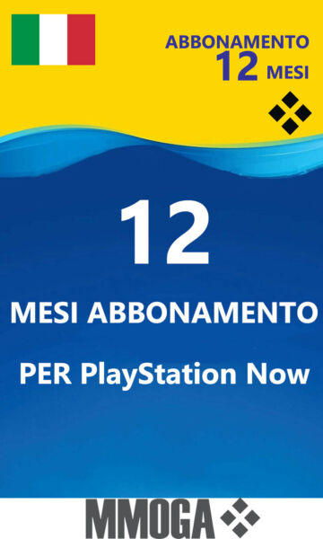 PLAYSTATION NOW Abbonamento 12 Mesi - Sony PS4 Download Codice - Italiano Conto