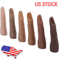 Kyпить Silicone Practice Hand Model Nails Art Middle Finger Nail Trainer Hand на еВаy.соm