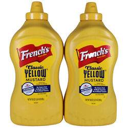 French's 100% Natural Classic Yellow Mustard (30 oz. Bottle, Twin 2-Pack)
