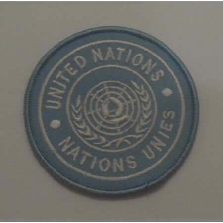 img-UN Shoulder Patch, United Nations, Army, Badge, TRF, Peasekeeping, Blue