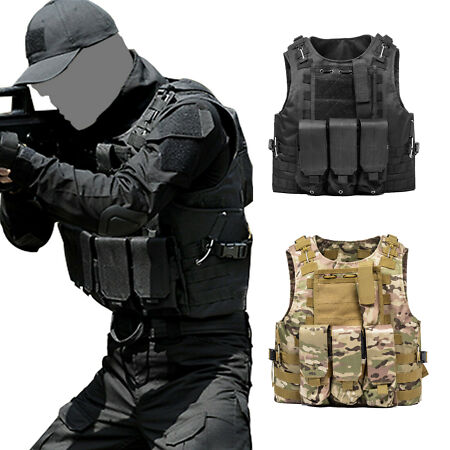img-Tactical Military Vest Airsoft Molle Combat Army Plate Holder Assault Sport Vest