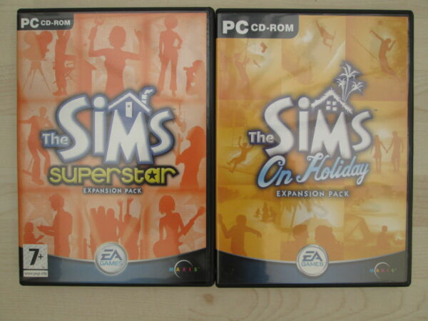 THE SIMS Expansion packs Superstar and On Holiday PC Games