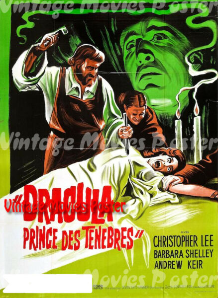 Paris,FranceDracula: Prince of Darkness 1966  France Horror Poster Terence